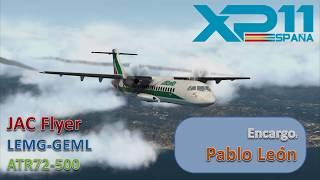 LEMG-GEML | ATR72-500 | X-PLANE 11 | APP NDB RW15