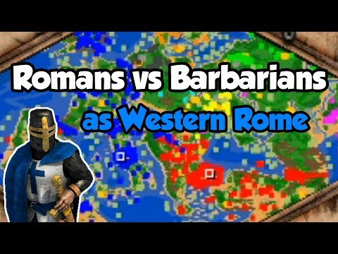 Romans Vs Barbarians As Western Rome