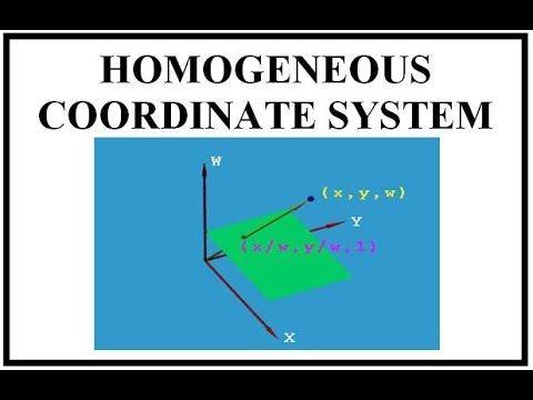 HOMOGENEOUS COORDINATE SYSTEM FOR TRANSFORMATION