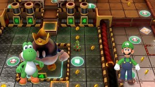 Super Mario Party Partner Party #215 Gold Rush Mine Yoshi & Luigi vs Pom Pom & Mario