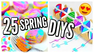 25 DIY Spring Projects! Room Decor Ideas, Treats, Easter Eggs
