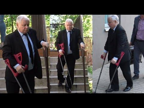 Znalezione obrazy dla zapytania kaczyński o kulach