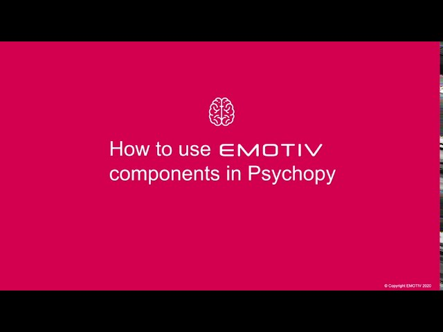 [TUTORIAL] How to use EMOTIV components in PsychoPy for ERP Research