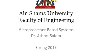 CSE312 Microprocessor Based Systems - Lecture 8