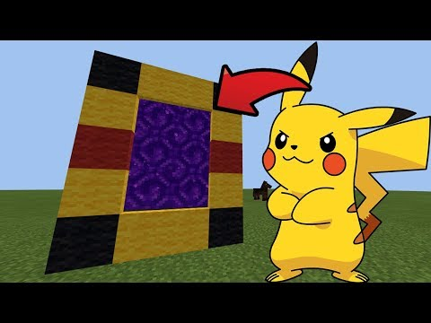 How To Make a Portal to the Pikachu DIMENSION in Minecraft Pocket Edition