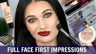 FULL FACE FIRST IMPRESSIONS | BROWS, FOUNDATION, CONCEALER, EYESHADOW, MASCARA