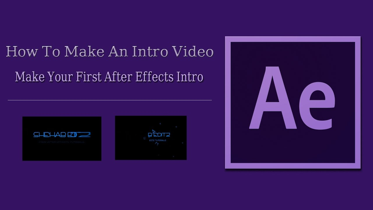 How to make an intro video for youtube after effects for After effects youtube intro