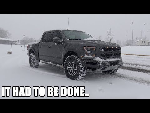 Mandatory First MOD For The Raptor! (And Some Hooning In The Snow)