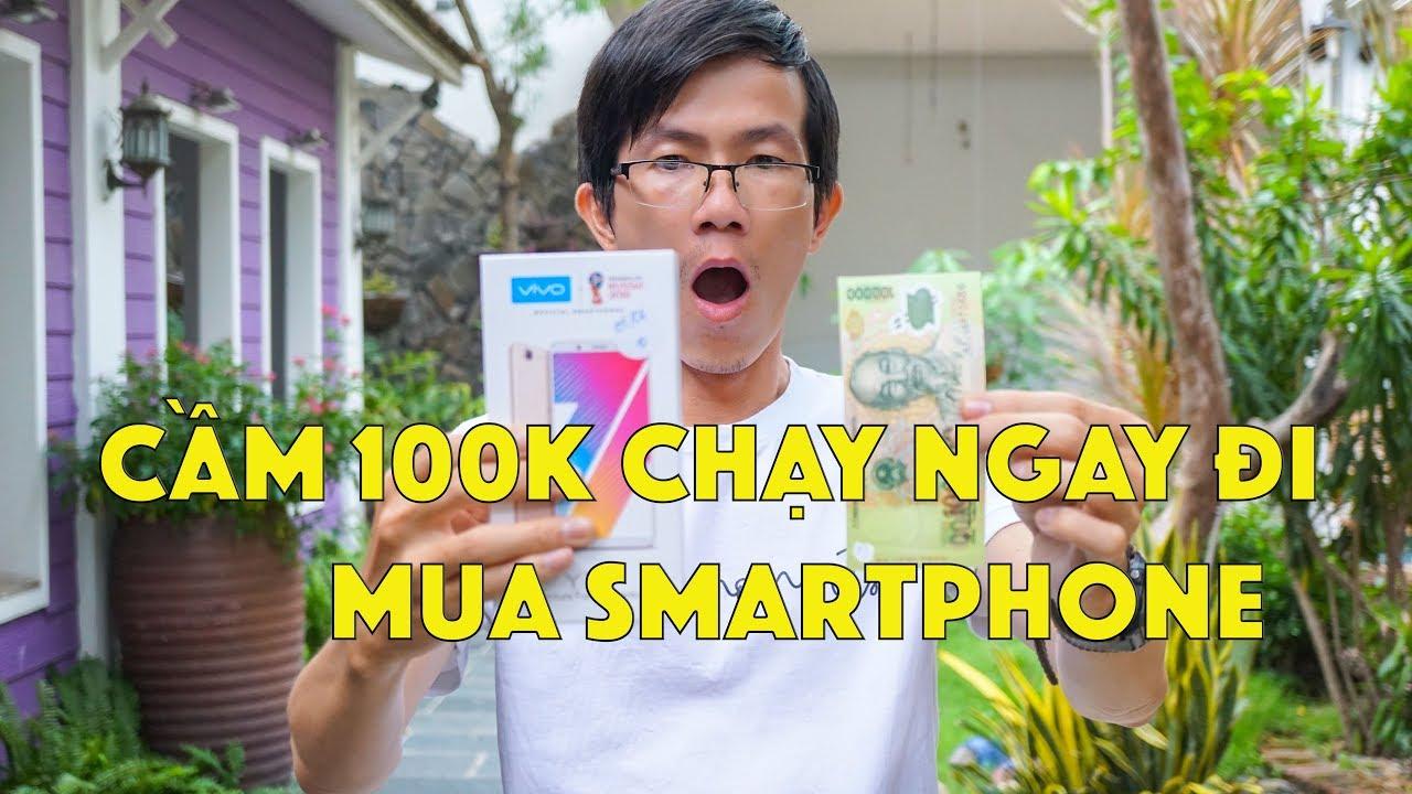 Lần đầu cầm 100K CHẠY ngay đi vào Thế Giới Di Động mua smartphone giá 0 ĐỒNG ? | LKCN