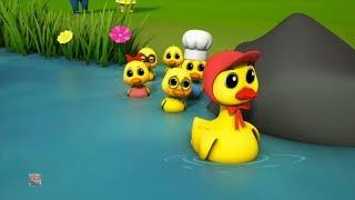 Gambar cover lima bebek kecil | anak-anak bebek lagu | Lagu Anak Anak | Five Little Duck | Junior Squad Indonesia