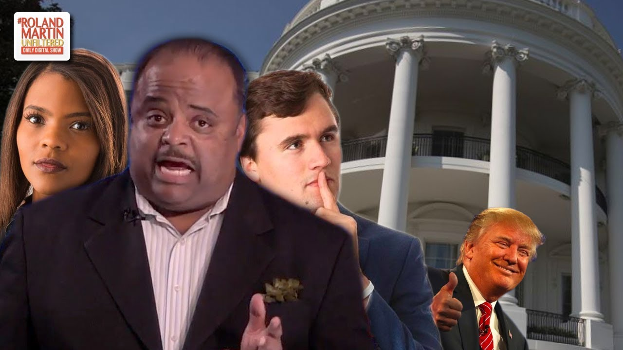 About That Time Roland Martin Ran Into Candace Owens & Charlie Kirk At The White House ...