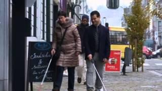 Aveugles a Verviers se deplacer un parcours du com