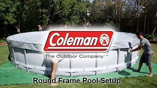Coleman Round Frame Pool Setup