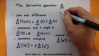 Calculus - The basic rules for derivatives