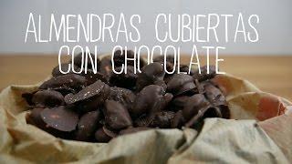almendras cubiertas con chocolate   recetas clean eating   fitfood 4k