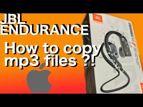 Copying Mp3 Music Files Onto The JBL ENDURANCE DIVE Headphones From A MAC - How To