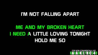 Rixton-Me and my broken heart karaoke lower key