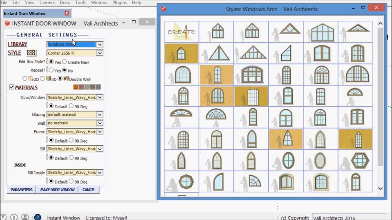 Image Result For Sketchup Plugins Windows Doors