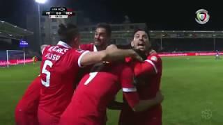 Golo de Raúl Jiménez: Feirense 0-(1) Benfica (Liga 27ªJ)