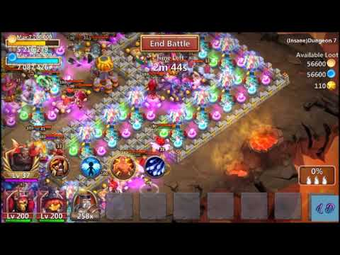 Castle Clash - Insane Dungeon 7.10 With 2 Heroes