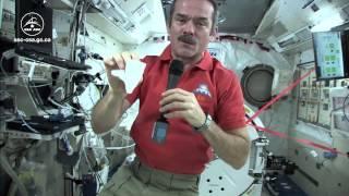 Chris Hadfield explique comment ramasser des liquides renversés dans la station spatiale