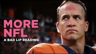 """MORE NFL"" - A Bad Lip Reading of The NFL"