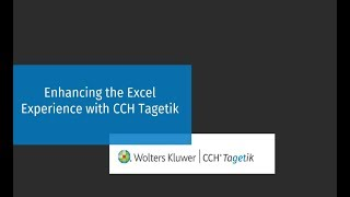 2 min Demo: Working with Excel - CCH Tagetik Software Video Demo