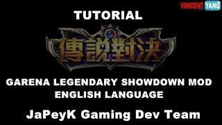 Garena Legendary Showdown MOD English Language Tutorial by JaPeyK Gaming