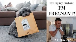 Finding out I'm PREGNANT & Telling My Husband | IVF SUCCESS