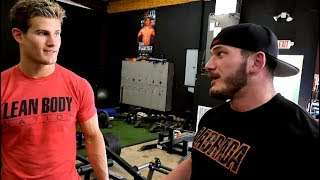Hunter Labrada Shows Sage Northcutt His Bodybuilding Leg Workout!!