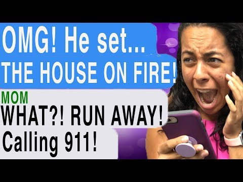 MY STALKER SET MY HOUSE ON FIRE!!! (Reunited   Cliffhanger   Scary Text Story)
