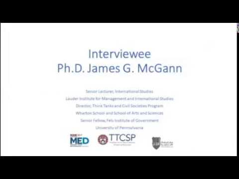 Interview with Prof. Dr. James G. McGann at CSS on Sept 18th 2017