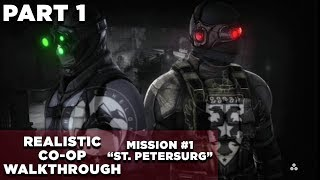 "Splinter Cell: Conviction CO-OP Walkthrough | Realistic | GHOST | Mission #1 ""St. Petersburg"""