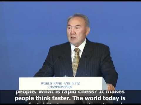 Kazakhstan's President Nazarbayev Speaks at World Rapid and Blitz Chess Championships