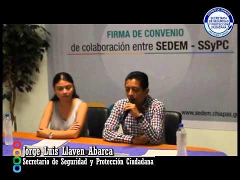 En materia de prevención, SSyPC signa convenio de colaboración con SEDEM
