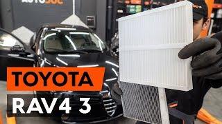 Remplacement Filtre a air de l'habitacle TOYOTA RAV4 : manuel d'atelier