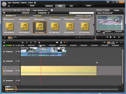 Scorefitter Hintergrundmusik in Avid studio und Pinnacle Studio