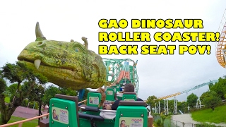 Gao Dinosaur Roller Coaster Back Seat POV Mitsui Greenland Japan