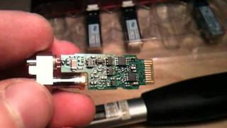 Dissasembly of the fibre optic SFP (GBIC) transceiver