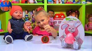✔ Кукла Беби Борн и Ярослава открывают жвачку для рук. Сюрпризы для малыша / Doll Baby Born ✔