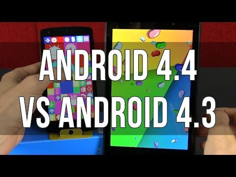 Android 4.4 KitKat vs Android 4.3 JellyBean comparison