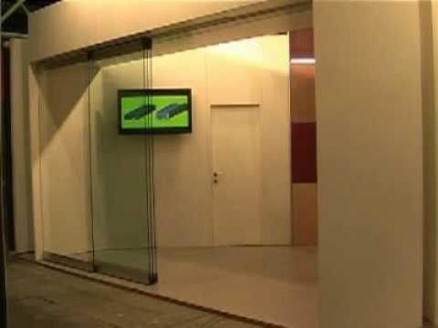 Estfeller parete divisoria mobile in vetro cristallo - Parete divisoria mobile ...