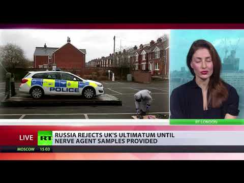 Diplomatic standoff as Russia reject's UK ultimatum until nerve agent samples provided