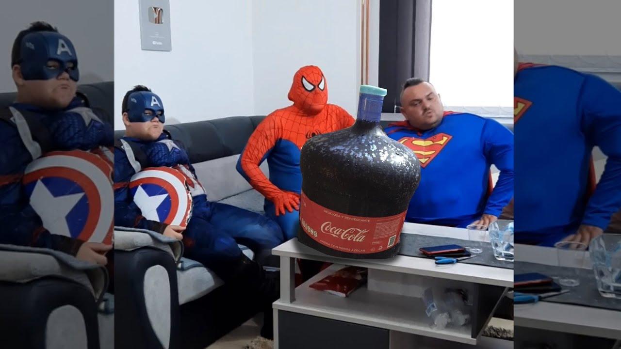 Superheroes Coca-Cola Challenge 🥤🥤🥤#shorts