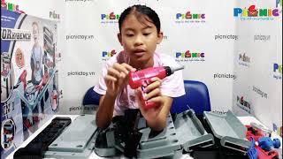 Picnictoy.vn| ChouChou làm KĨ SƯ CƠ KHÍ| Đồ chơi SỬA CHỮA, DỤNG CỤ CƠ KHÍ
