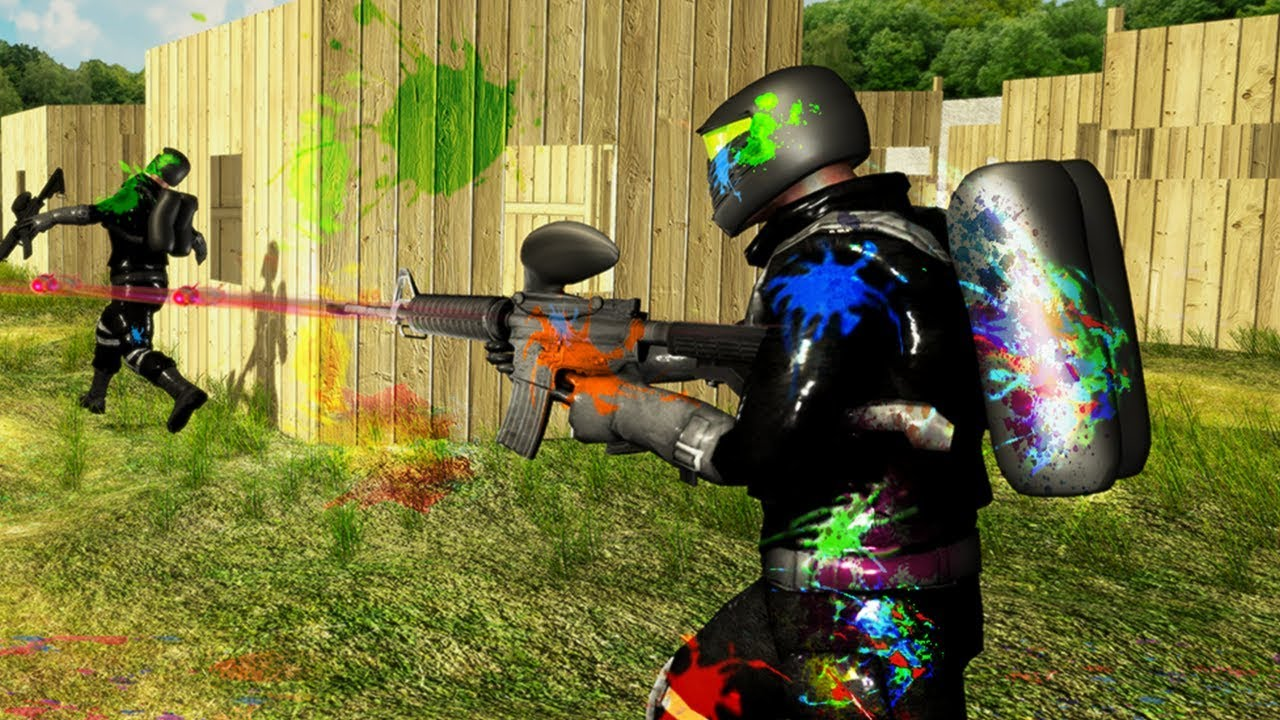 Paintball Shooting Arena: Real Battle Field Combat - YouTube
