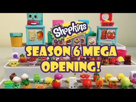 NEW Shopkins Season 6 Chef Club Mega Opening! 5 & 12 Packs + Play Sets | Birdpoo Reviews
