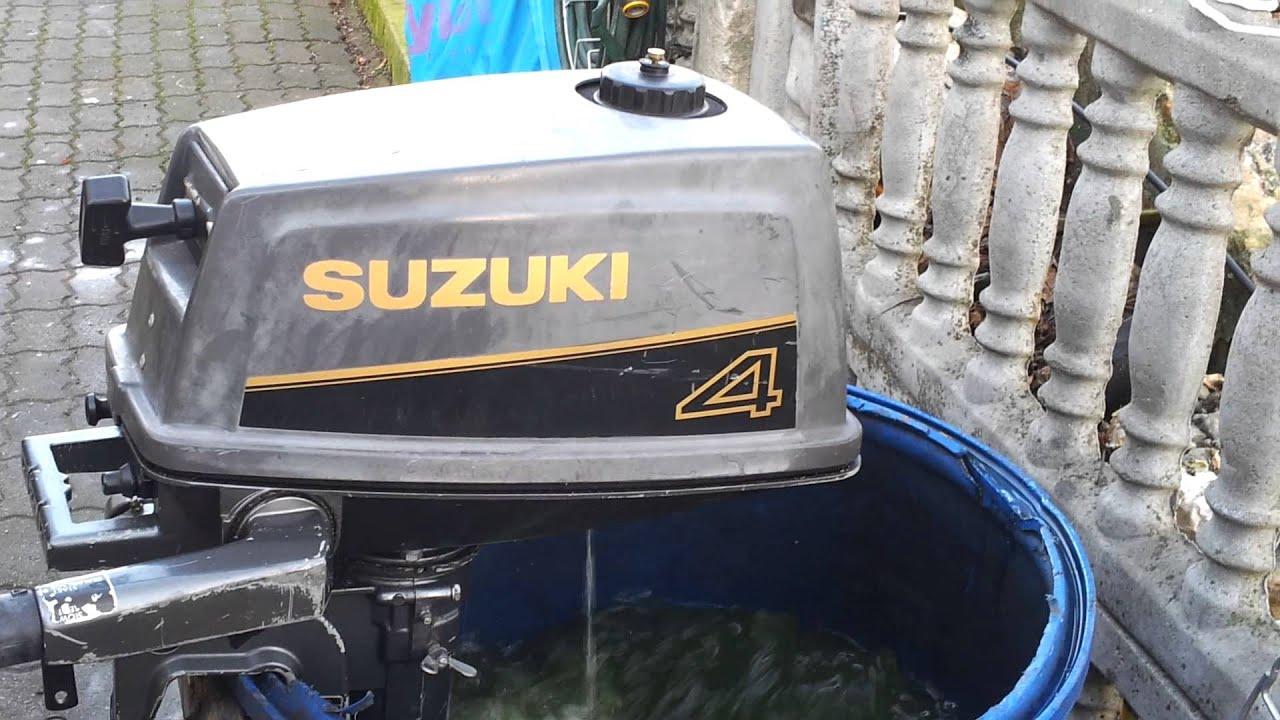 Suzuki 4 Hp Outboard Motor 1993r 2 Stroke Dwusuw Youtube