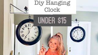 Diy Hanging Clock  Under $15