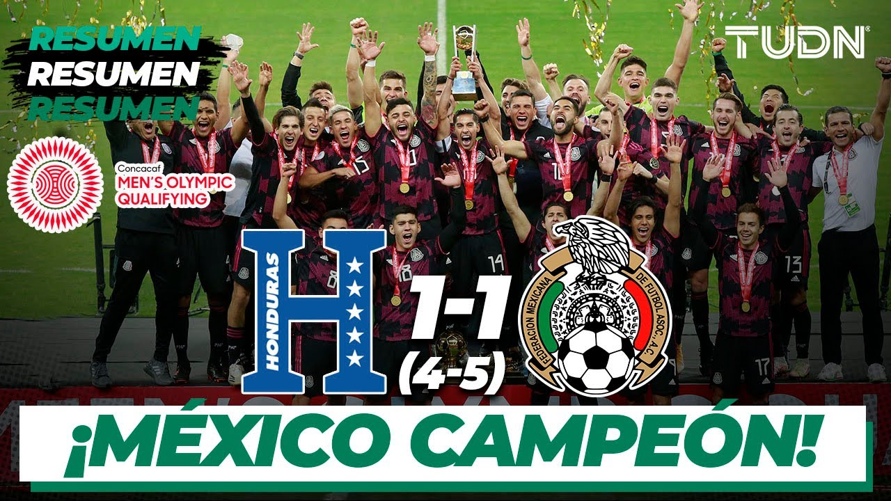 Download Resumen y goles | Honduras 1(4)-(5)1 México | Final - Preolímpico 2021 | TUDN